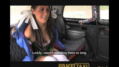 Homemade Public Reality video: FakeTaxi Bad santa unloads his sack