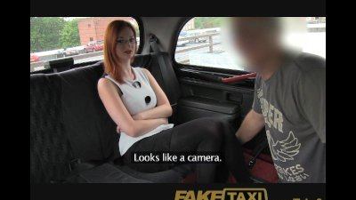FakeTaxi Naughty red head with