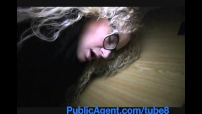 PublicAgent Sexy girl in glasses in fucked on public stair case