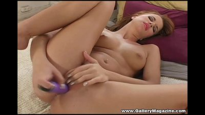 Beautiful Sarah Blake Plays With Young Slit