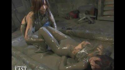 Japanese FemDom Mud Wrestling