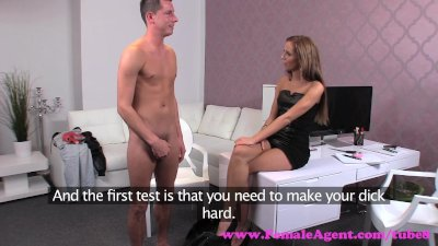 FemaleAgent. Can young stud deliver the goods for agent