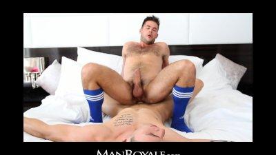 ManRoyale - Oil massage & fuck makes hairy twink cum