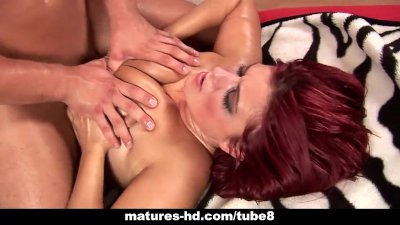 Mature redhead slag Kamila gets screwed hard