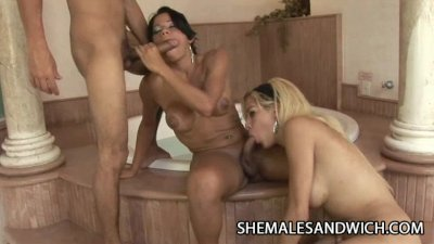 Esmerelda Dias and Leticia Mel - Shemale Domination