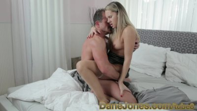 DaneJones beautiful blonde with amazing tits cant wait to ride his cock