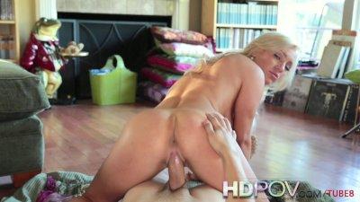 HD POV Hot Slutty Blonde with