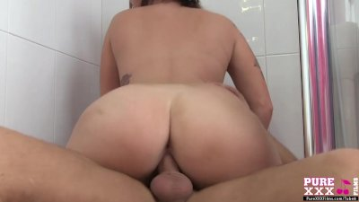 PureXXXFilms A face full of cum for a big tits whore