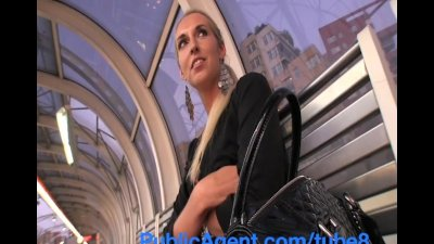 PublicAgent Long Leggy Blonde fucked hard outside