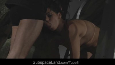 Teen hot slave girl experices painful pleasures in bdsm session