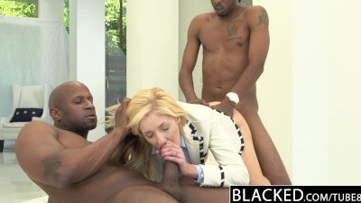 BLACKED 2 Big Black Dicks for Rich White Girl