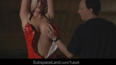 Innocent hot blonde slave girl