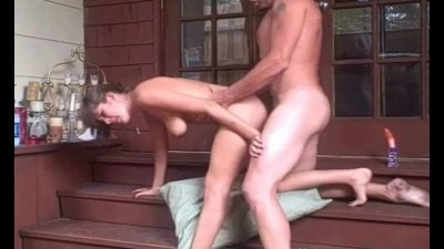 Amateur Homemade Sex On The Stairs