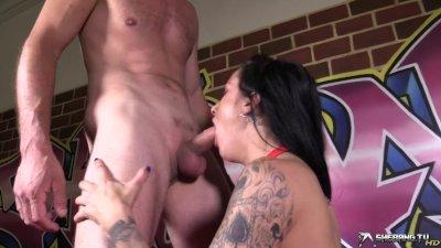 Deepthroat cock sucking style