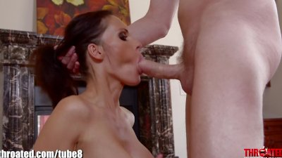 Throated Jennifer Dark is givi