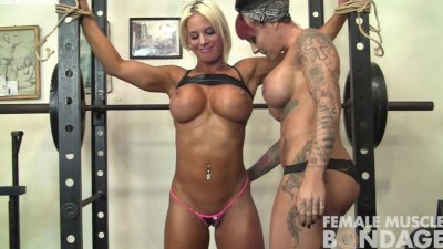 Dani Andrews and Megan Avalon Light Gym Bondage