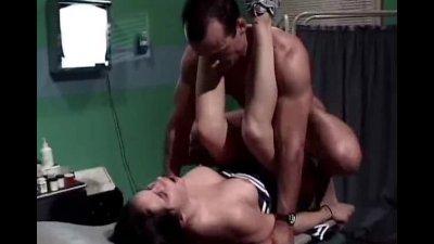 Playful cheerleader cock riding