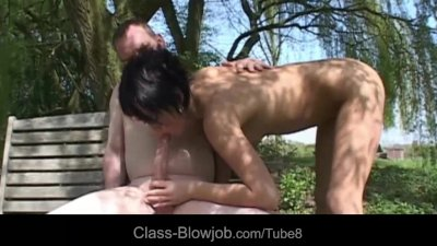 Naughty dick addicted babe perform master blowjob