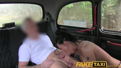 Blowjob Car Cumshot video: FakeTaxi Moody dark haired british girl fucked in the cab