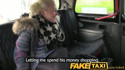 FakeTaxi Young blonde sucks an
