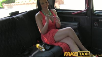 FakeTaxi Big tits and big booty fucking in London black cab