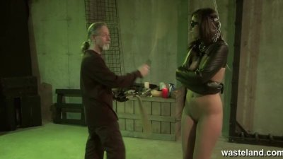 Teen is blindfolded and caned