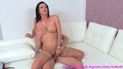 FemaleAgent. Horny MILF needs sexy studs cock deep inside her