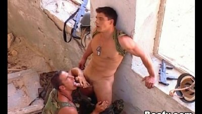 Hot Muscular Beefy Military Men Stud and Fucked