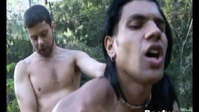 Two Beefy Gays Loves to Forest Fuck Anal