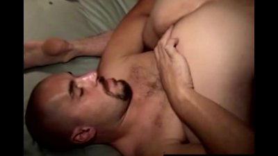 Mature gay guy sucking a straight dude