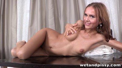 Horny babe Sabrina Moor mastur