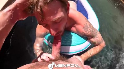 HD - MenPov Guys get their dicks wet and wild in the pool