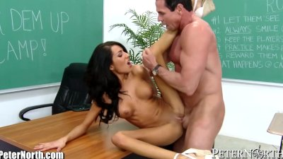 Peter North Gives it to Horny Latina Student