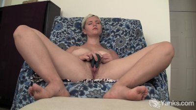 Blonde Claire Toy Her Hairy Tw