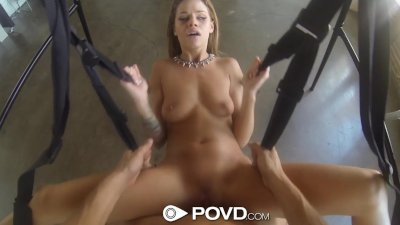 HD - POVD Hot fuck on a sex swing pov style with Jessa Rhodes