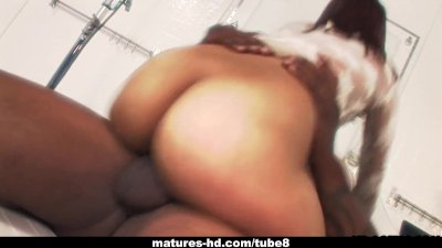Alluring Asian MILF takes in a huge black sausage