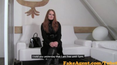 FakeAgent Fiery Red head babe