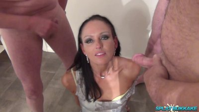 Cumshots and facials for sexy Roxy Roxx