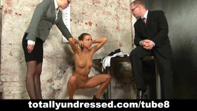 Undressed during dirty job interview