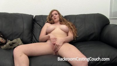Teen Redhead First Anal and Creampie Casting