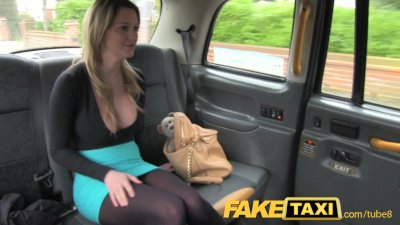Public Blonde Blowjob video: FakeTaxi Stunning blonde with huge tits