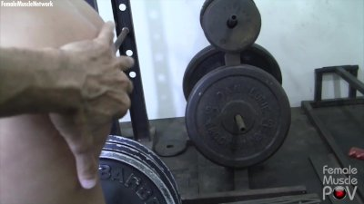 Blonde Gets Her Muscles Worshiped POV