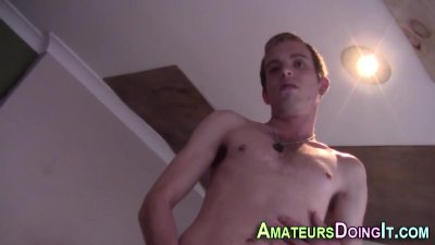 Solo amateur twink spunks