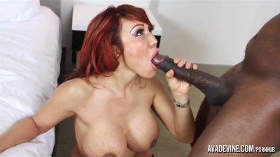 Redhead Bbc Missionary video: PornstarPlatinum - Ava Devine and Madingo's 12inch cock