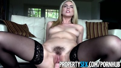Facial Funny Homemade video: PropertySex - Gorgeous blonde real estate agent makes sex video with client