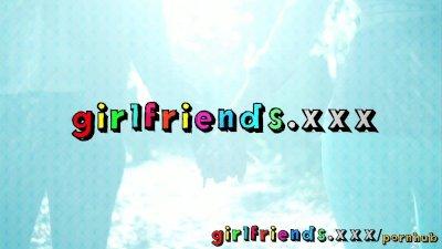 Girlfriends meet while shoppin