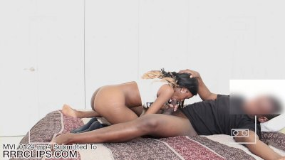 Hot 18yr old ebony teen fucks her cousin for cash on hidden cam