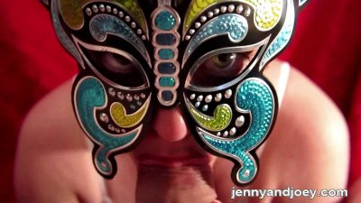 POV Butterfly Carnival Mask BJ