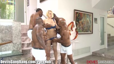 Kagney Linn Karter Gangbanged by 4 Black Guys