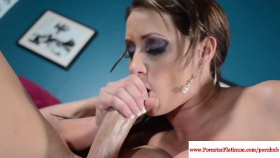 Big tits Eva Notty fucks and sucks cock
